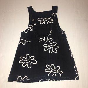 Guess Black Denim Overall Dress Size 3